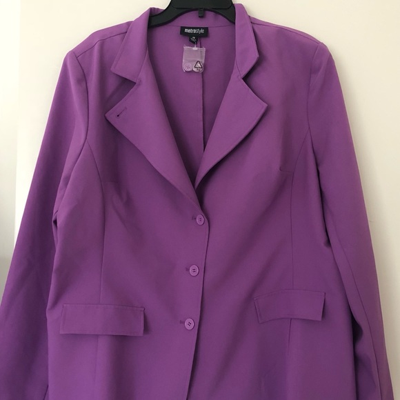 Metrostyle Jackets Coats Womens Jacket Dress Suit Purple 20